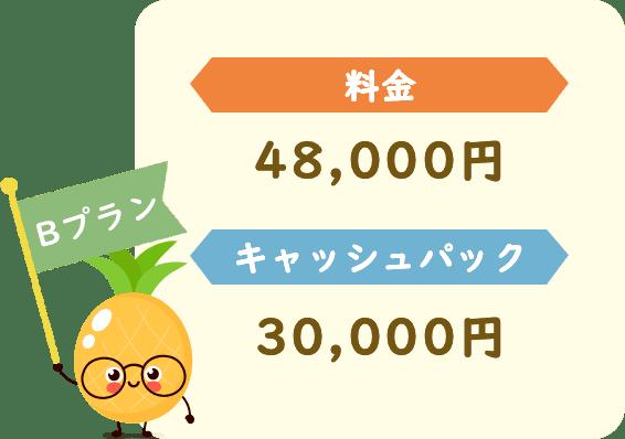料金48,000円キャッシュパック30,000円